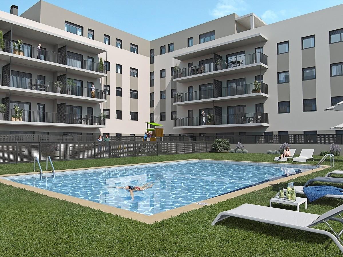 Imatge de la piscina comunitària.