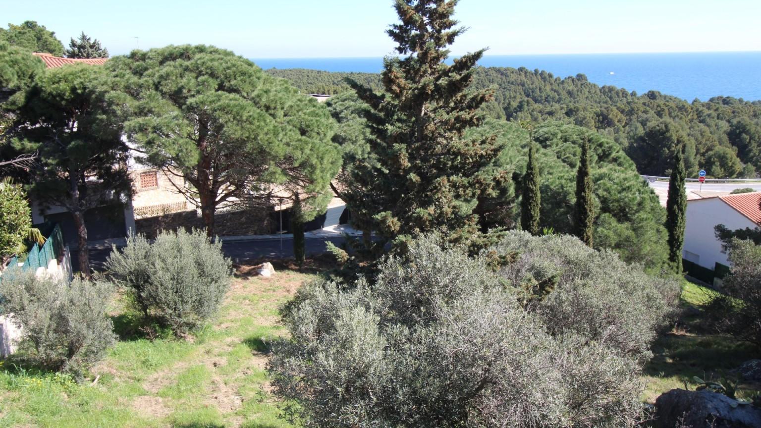 Fantástica parcela de terreno en venta con vista al mar en Cap Ras