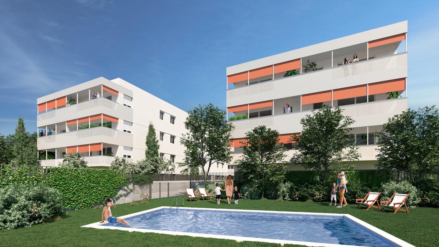 Piso de obra nueva Zona de  Domeny de Girona  con piscina comunitaria.
